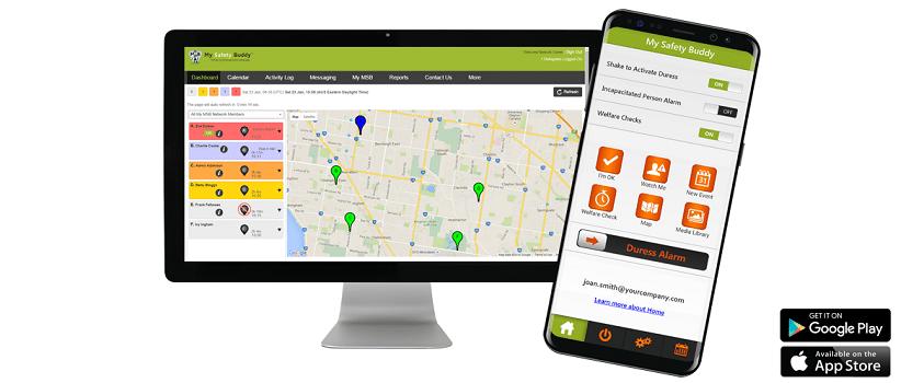 My Safety Buddy Web Portal and Smartphone App