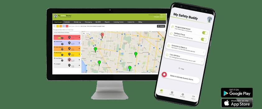 My Safety Buddy Smartphone App and Web Portal